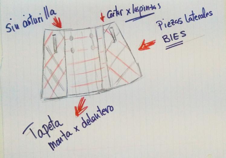 Transformando el patrón de la falda línea A o evasé. - Handbox Craft ...