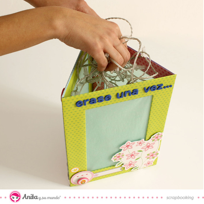 lámpara infantil de papel scrapbooking