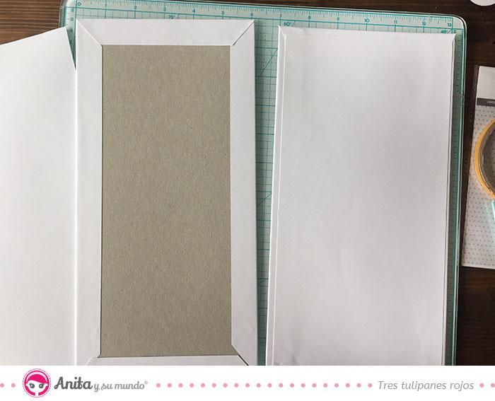 mini álbum bebé forrar con papel estampado