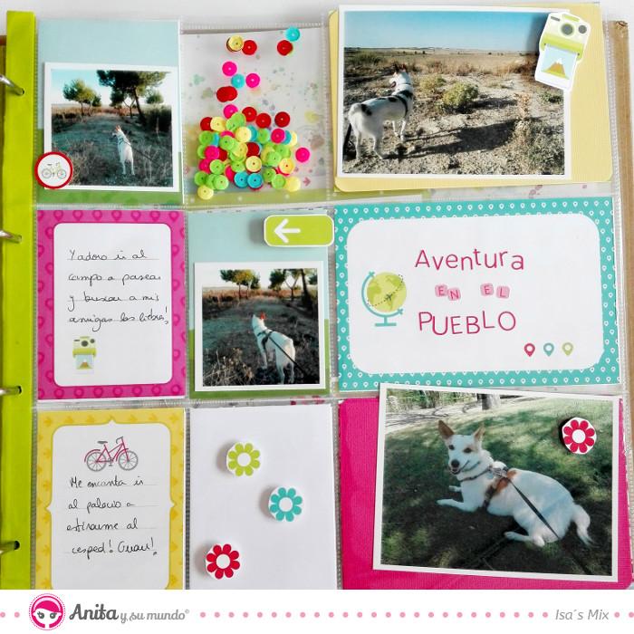 página project life aventura en el pueblo
