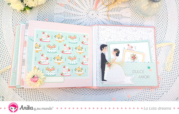 páginas interiores álbum boda