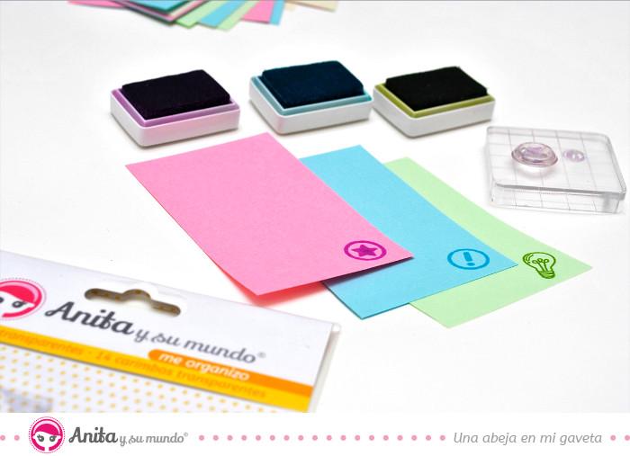 utilizar sellos de anita y su mundo con tintas en colores vivos
