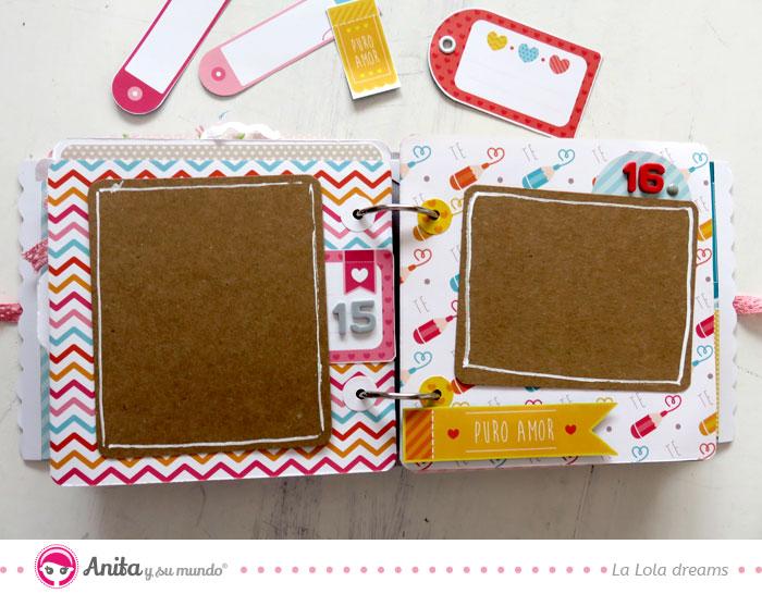 decorar bordes de papel kraft en album scrapbook
