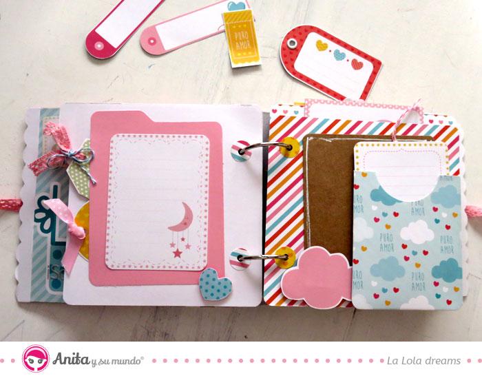 páginas con sobres para guardar recuerdos