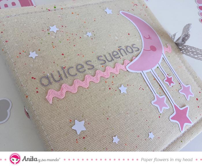 decoración portada álbum bebé scrapbook