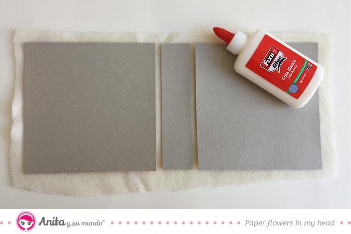 portadas mini álbum cartón gris