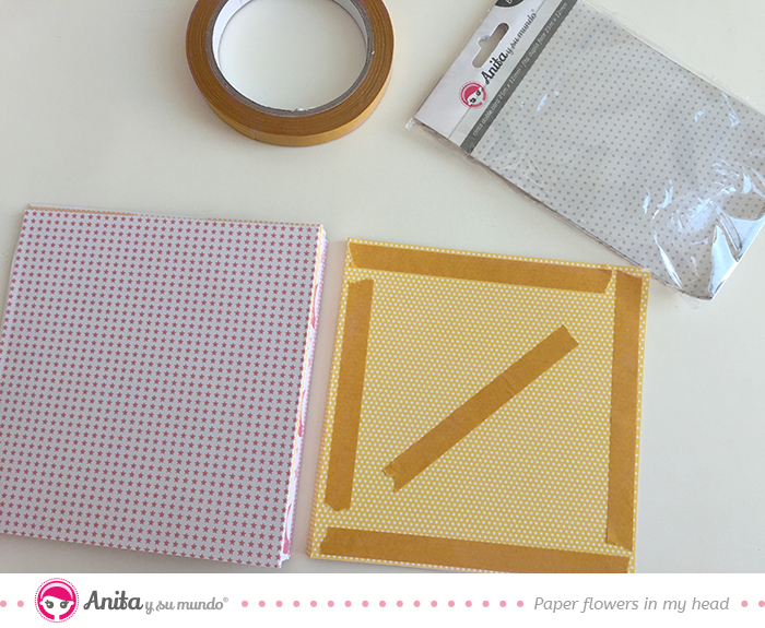 páginas interiores pegar con cinta de doble cara básicos de anita