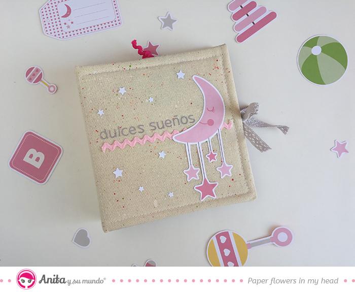 cómo hacer un álbum bebé con papel y tela