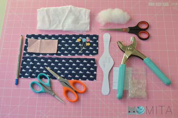 Materiales para coser alfiletero