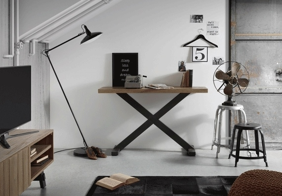 Mesa consola de estilo industrial