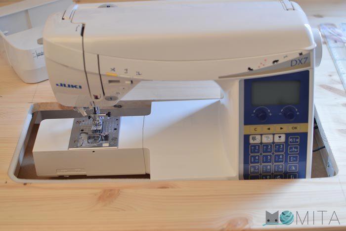 coser con maquina en redondo
