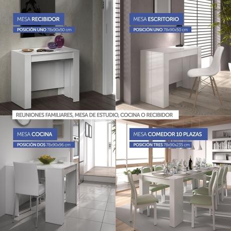 Mesa consola extensible para salón