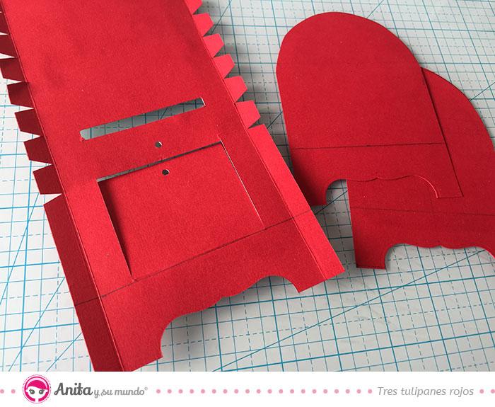 Montar piezas caja de regalo para san valentín