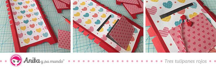Montar piezas papel buzón del amor