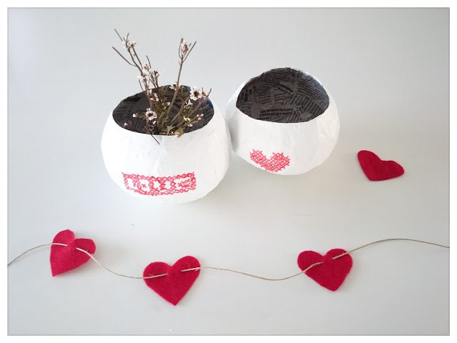 Diy San Valentín reciclando un periódico. - Handbox Craft Lovers ...