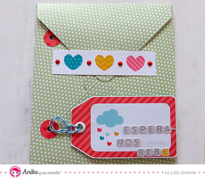 sobre decorado para guardar recuerdos scrap