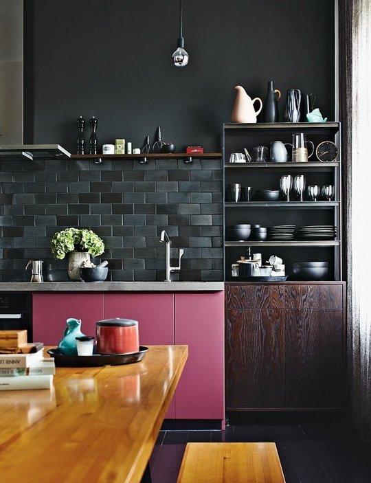 Colores vivos con paredes negras
