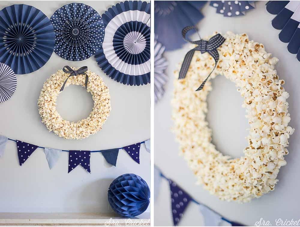 corona de palomitas de maiz