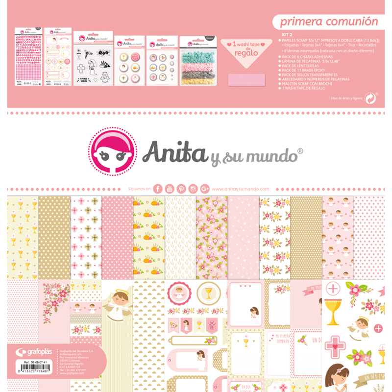 """Kit maletín colección """"primera comunión niña"""" – Ref. 37 08 07 41"""