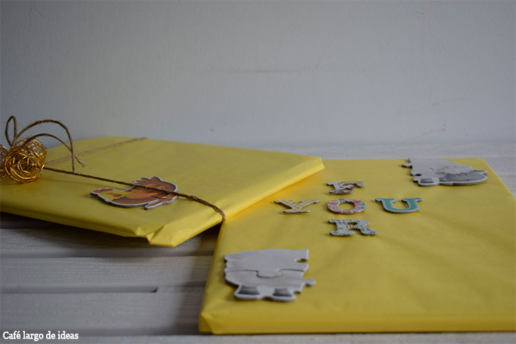 Packaging handmade con piezas de puzzle