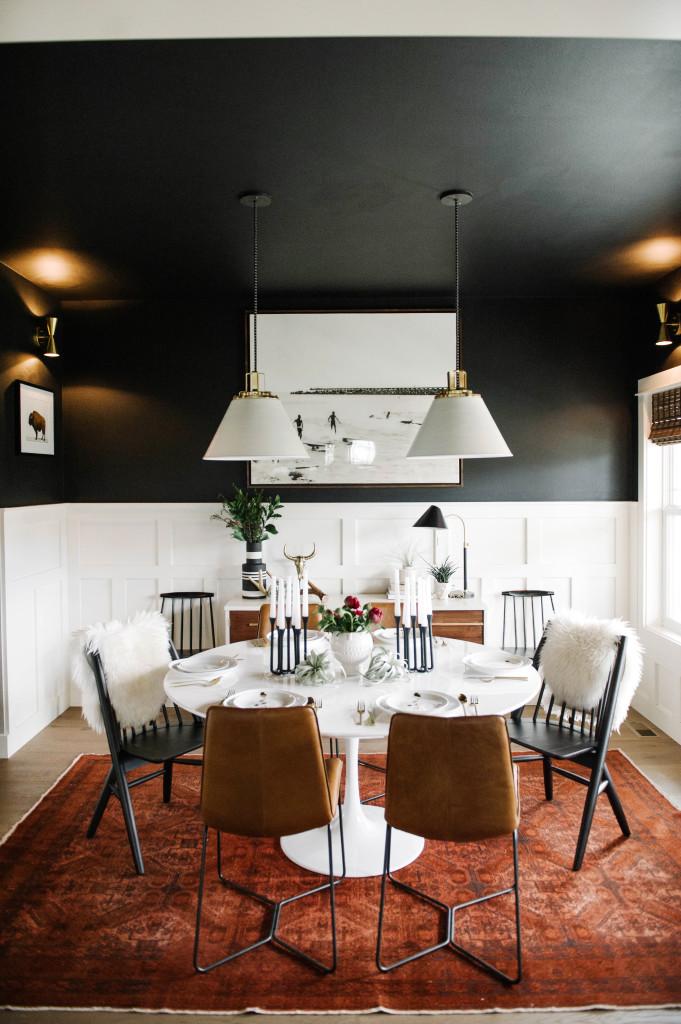 Ideas para combinar paredes negras