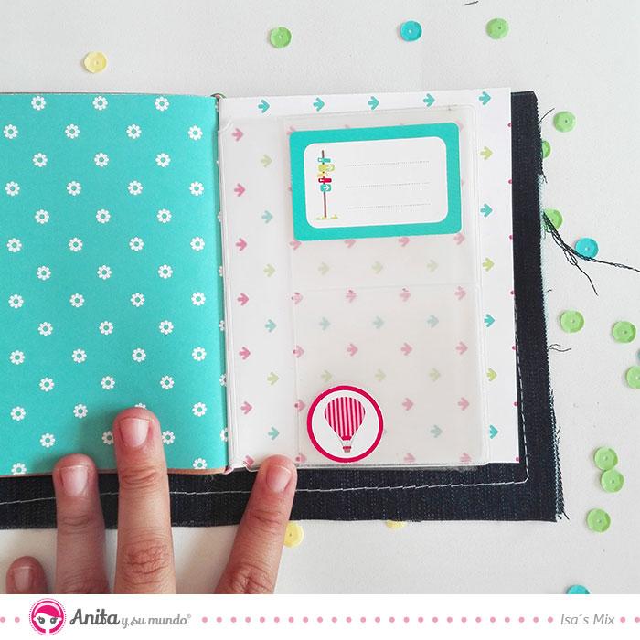 cómo customizar cuadernos con productos scrapbooking