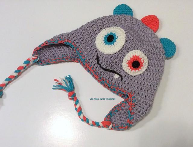 Gorro monstruosamente divertido paso a paso - Handbox Craft Lovers ...