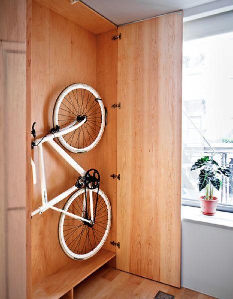 guardar la bici en casa - armario a medida