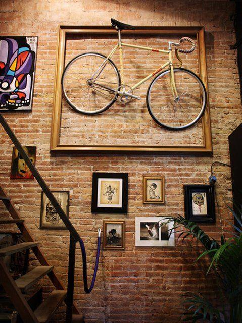 guardar la bici en casa - enmarcada