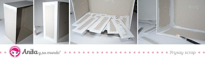 mueble con cartón base de Anita y su mundo