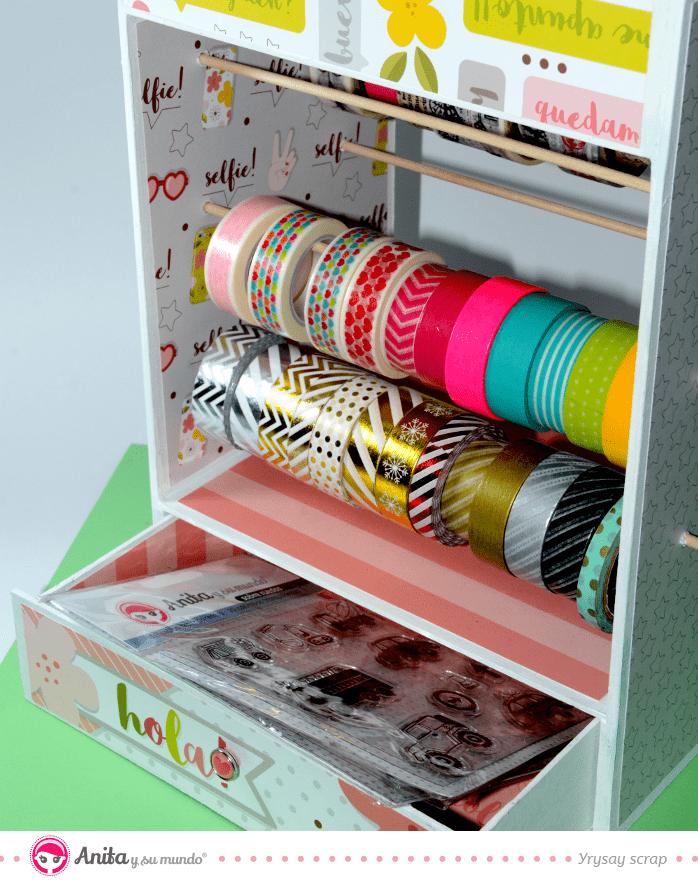 mueble washi tape scraproom