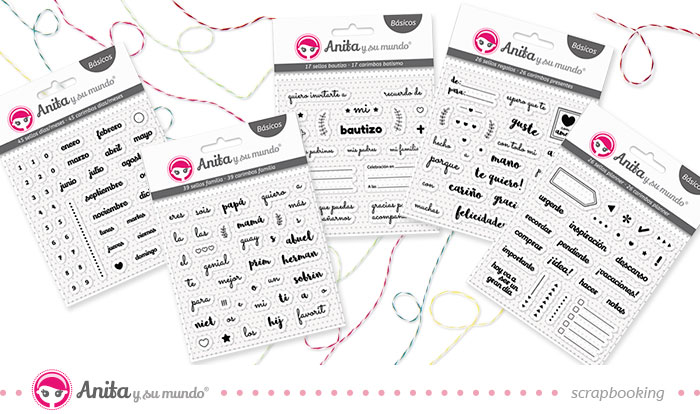 Nuevos sellos básicos de scrapbooking de Anita y su mundo