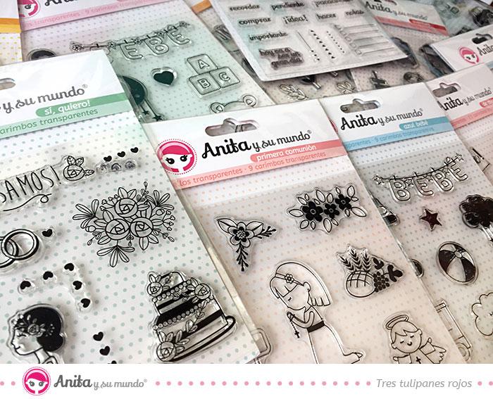 sellos de silicona de Anita y su mundo