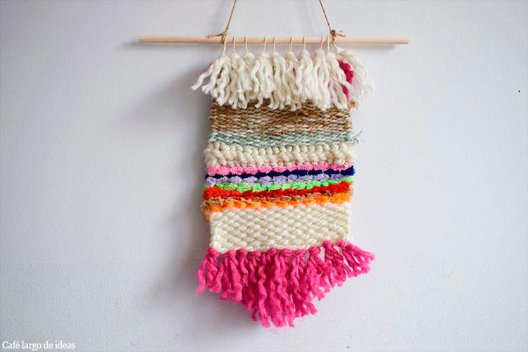 Tapiz de lana y limpiapipas - Handbox Craft Lovers | Comunidad DIY ...