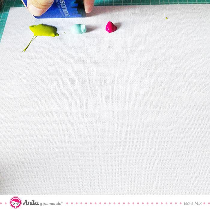 truco mix media como usar tarjeta con pinturas