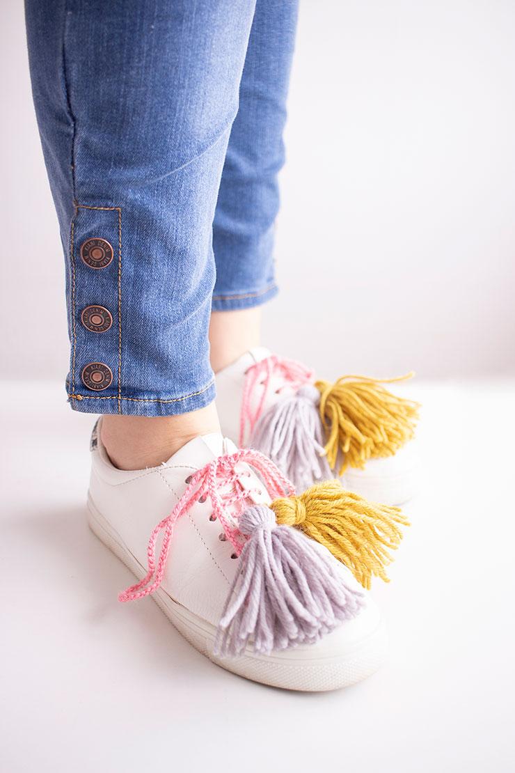 zapatillas con pompones