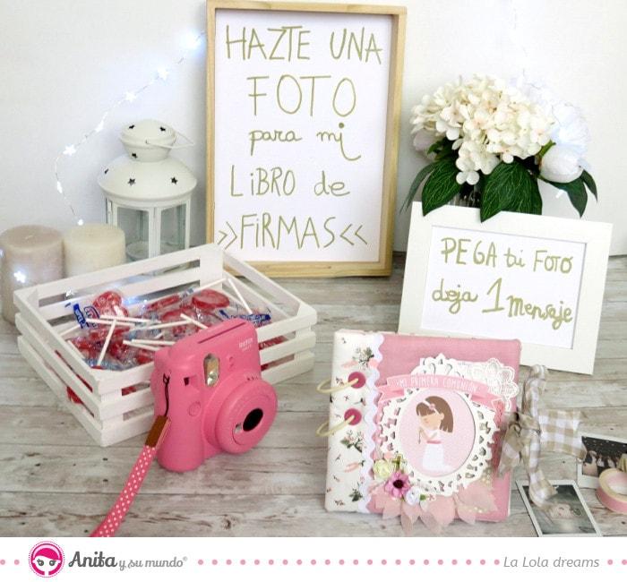 mesa photocall para cámaras instantáneas