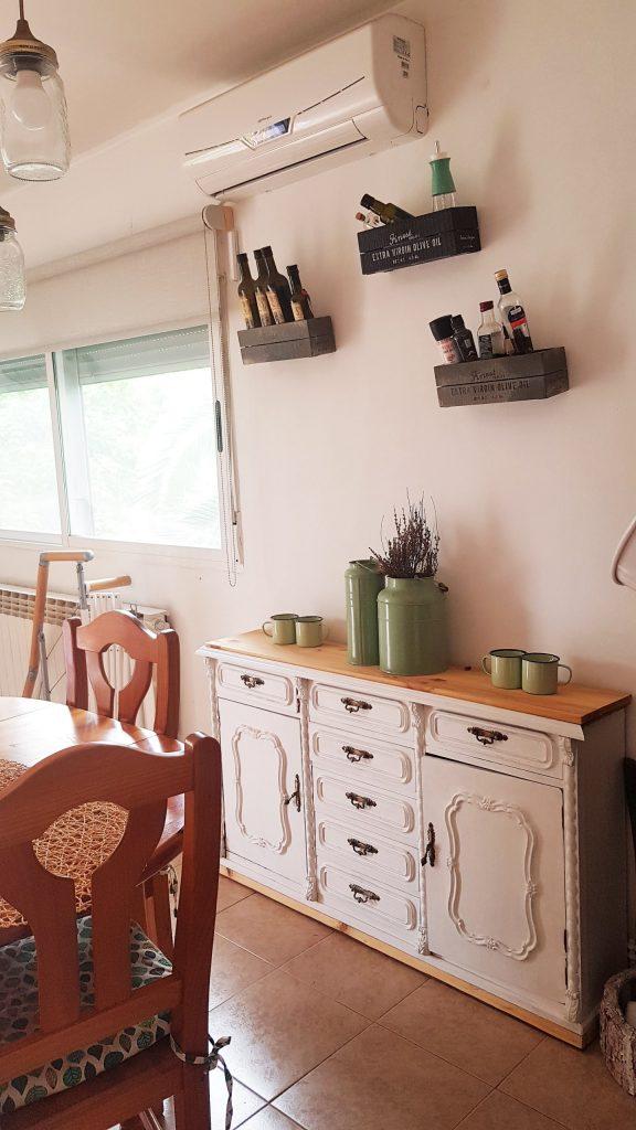 Comedor estilo rustico chic - El despues - Detalle del mueble reciclado DIY