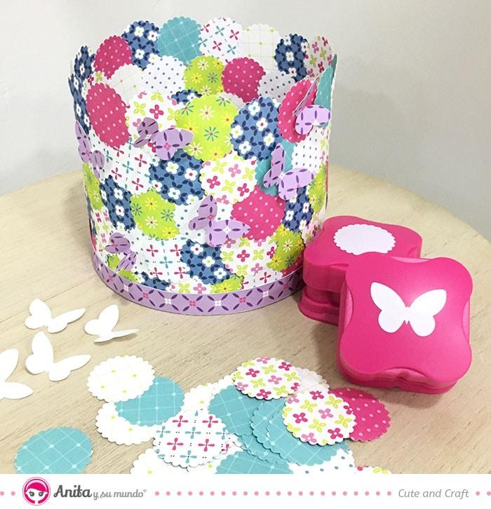 Crea tu lámpara con papel estampado