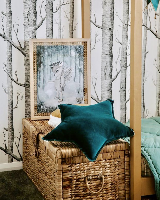 design boho child bedroom