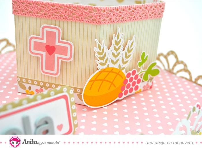 detalles decoración regalos de comunión scrapbooking