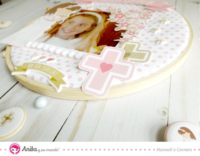 elementos para decorar un layout de comunión niña