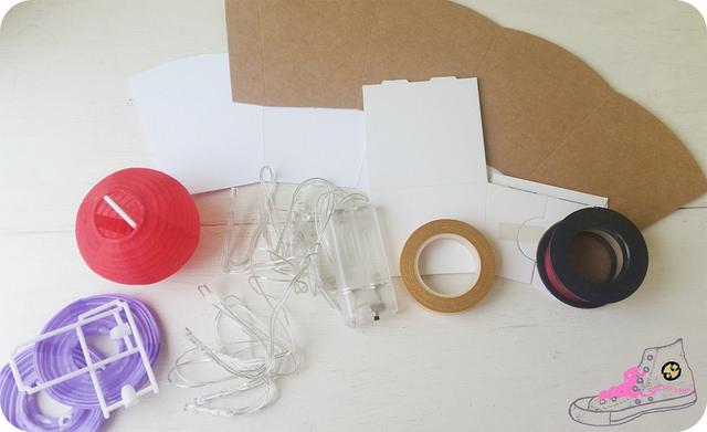 material para guirnalda de luces