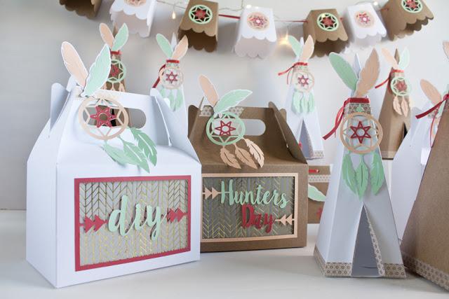 cajas papel decoracion fiesta