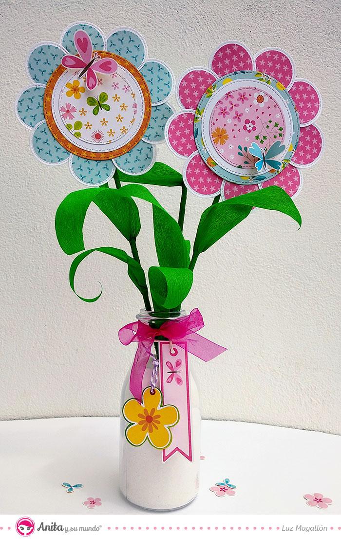 como hacer flores con cdroms