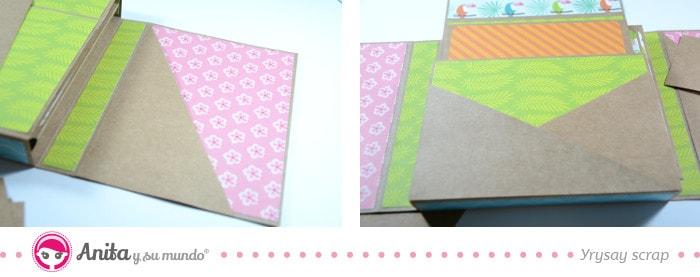 cómo hacer un bolsillo para álbum flip box
