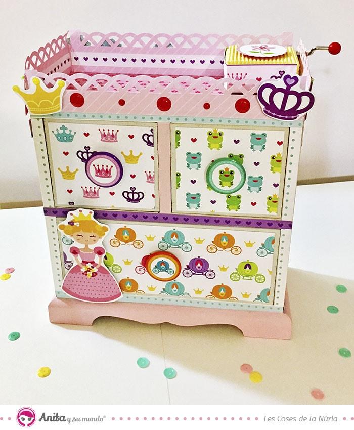 decoración joyero de fantasía para niñas