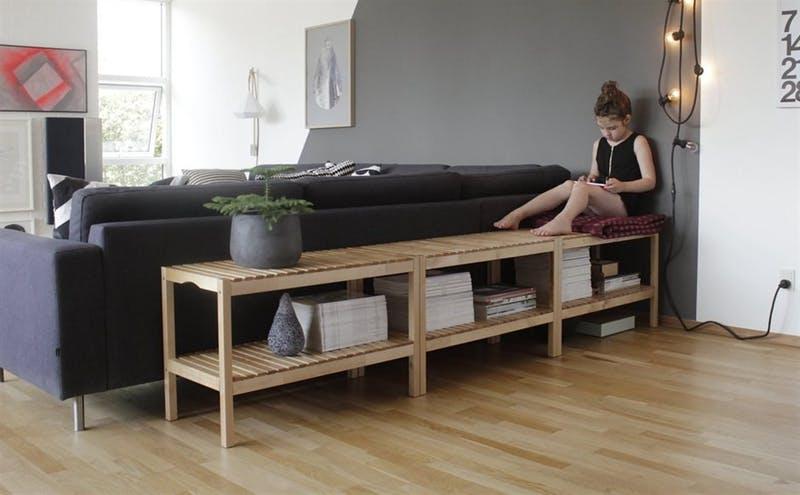 decorar el espacio sobre el sofa - mueble separador - Ikea Family Live