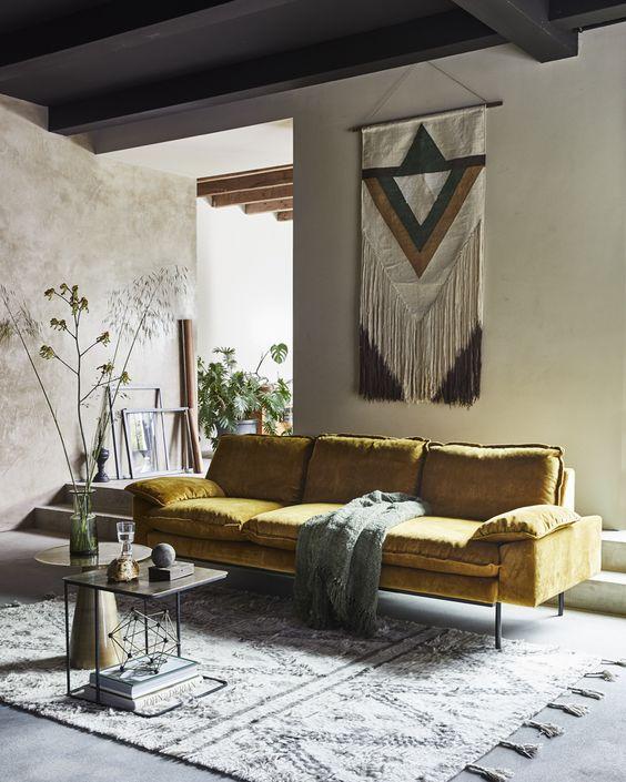 decorar el espacio sobre el sofa - tapiz o tapices boho - moderndesignhomes-gq