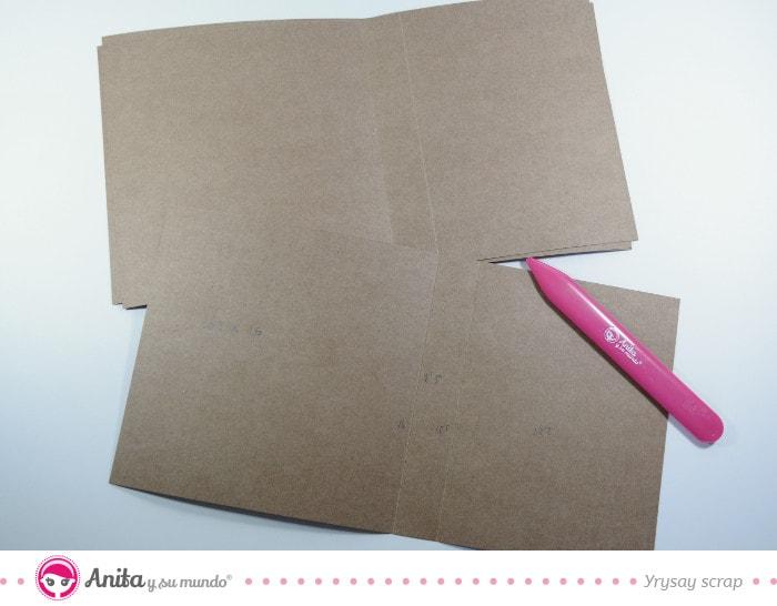 estrutura para hacer un álbum flip box
